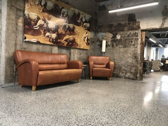 living room concrete