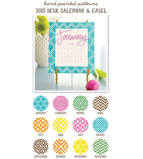 Painted Pattern 2015 Desk Calendar & Easel #HolidayGiftIdeas #ChristmasGiftIdeas