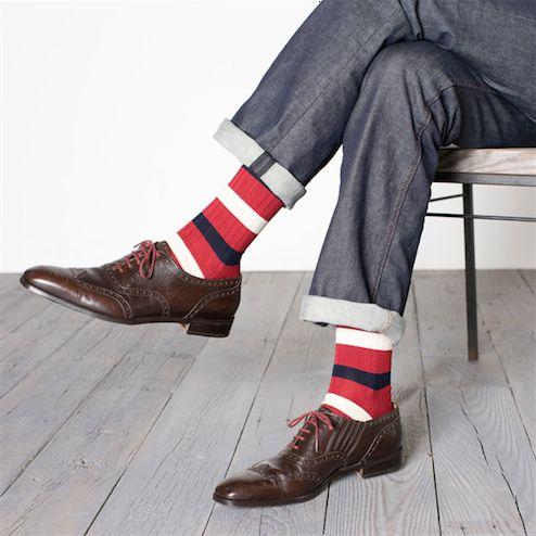 Border socks by Tabio, £10.80