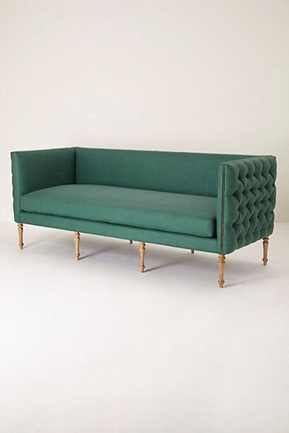 anthropologie  Linen Ditte Sofa $3,898.00 color: holly