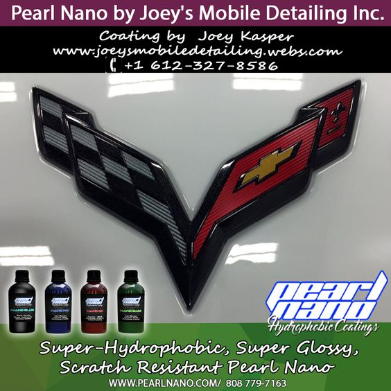 This Z06 is now properly protected and shiny!!! Pearl Base/Top and Glass. Pearl Nano by Joey Kasper. Visit www.joeysmobiledetailing.webs.com or call +1 612-327-8586. Super-Hydrophobic Nanotechnology - Scratch Resistant Nano Coatings Professionals Only - Wholesale & Private Label Options Available.http://www.pearlnano.com - 1-866-285-1051 - Email: Dave@PearlUSA.net. #PearlNano #nanoCoatings #CeramicCoatings #JoeyKasper #Joey'sDetailingINC