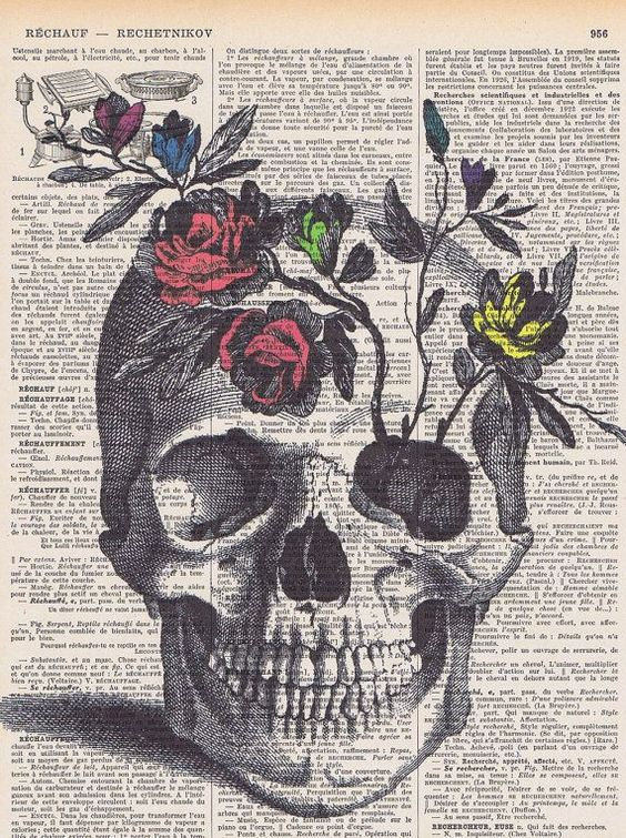 Скелет Цветы Rose череп цветы скелеты