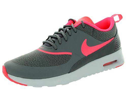 Nike Wmns Air Max Thea Damen Sportschuhe 0 (Dark Grey/Hyper Punch-Pr Pltnm)