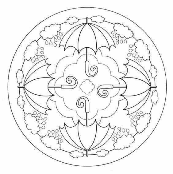 ausmalbilder jahreszeiten mandala  amorphi