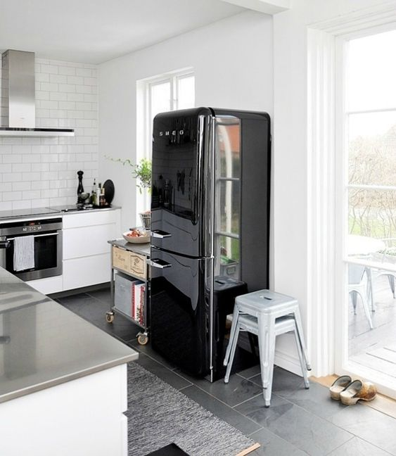 smeg koelkast zwart   Keuken   Kitchen   Pinterest   Black, Search and Smeg fridge