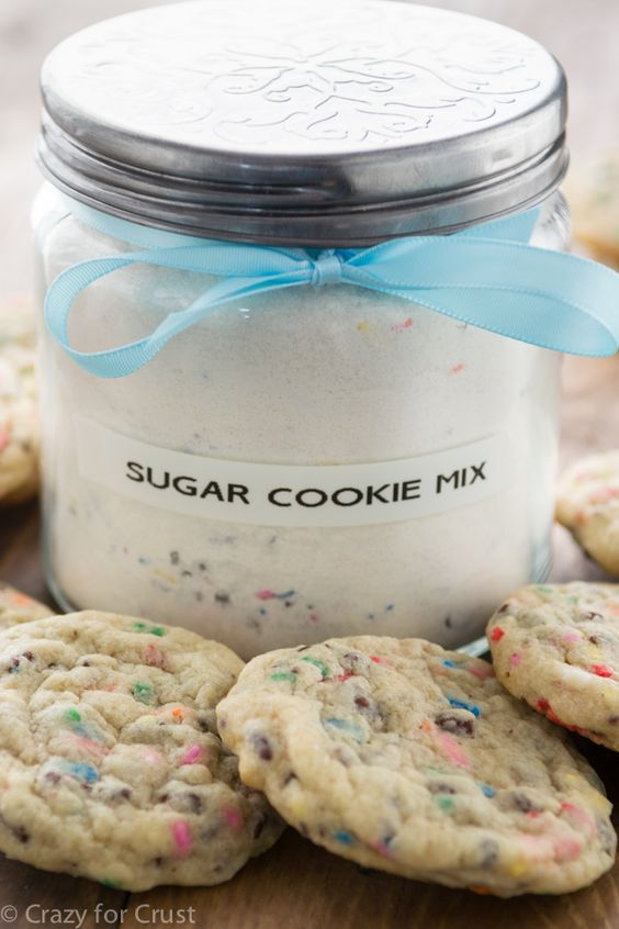 This Homemade Sugar Cookie Mix makes the BEST sugar cookies and is a great gift idea!