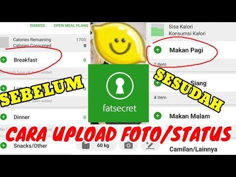 Cara Mengubah Bahasa Indonesia Di Aplikasi Fatsecret Cara Upload Status Dan Foto Aplikasi Fatsecret Youtube Aplikasi Bahasa Youtube