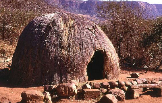 Traditional Zulu house, South Africa: