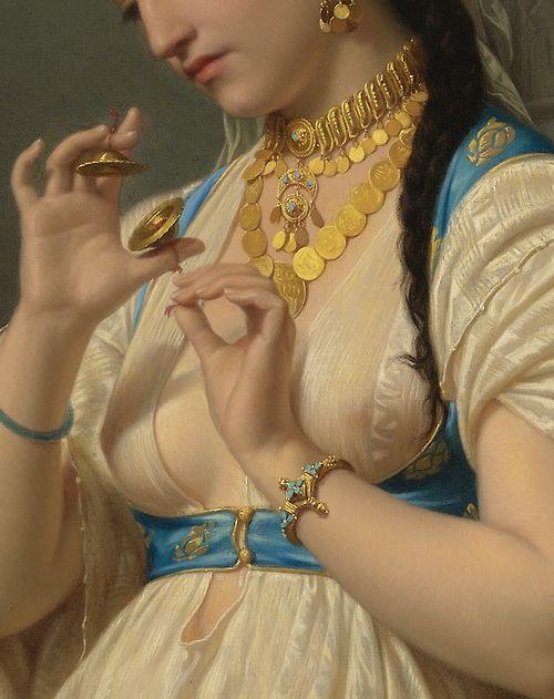 Émile Vernet-Lecomte: Aimée, A Young Egyptian (Detail), 1869 #Art #Detail: