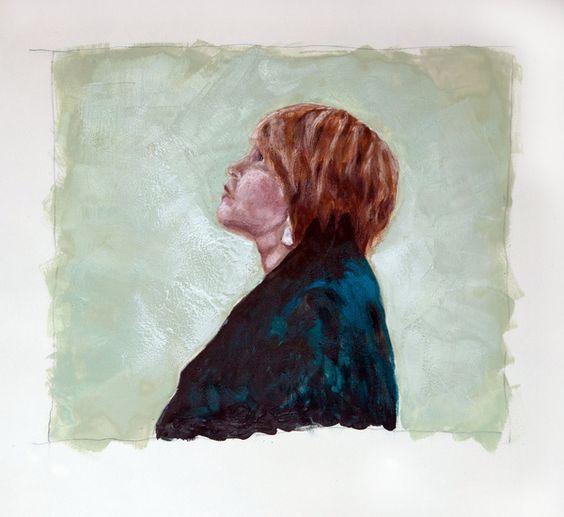 Brenda Encaustic Portrait by Kara Brook