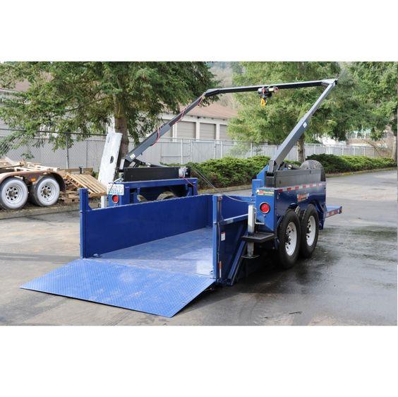 Utility Trailer Drop Deck Dump Amp Crane Lift 3 4wheeling