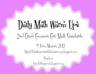 2nd grade Math Common Core activities