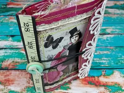 This little junk journal was really fun to make. I used many supplies from the Creative Collections club box from Rachel's Jazzy Creations.  I also used