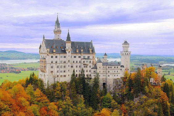 Neuschwanstein castle Marienbruecke Germany