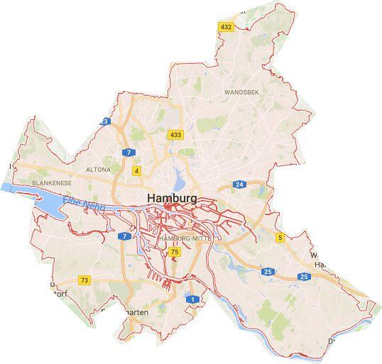Hamburg Karte Stadtteile Karten Landkarte Hamburg