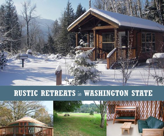 Rustic cabins yurts and rustic on pinterest for Washington state park cabins