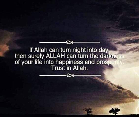 If Allah can turn night into day .....