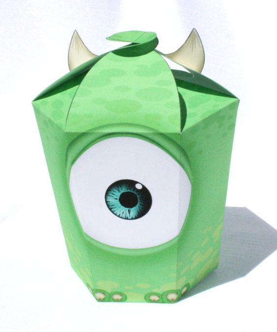 Monsters Inc  Inspired Mike Wazowski LARGE Gift Box by Shnookers, $5.00