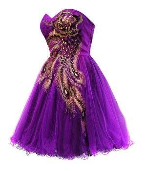Metallic peacock short purple homecoming dresses under 100  Tutu ...