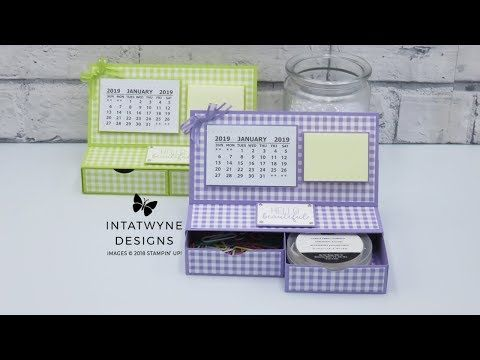 Learn How To Make This Desktop Calendar With Stationary Drawers Video Tutorial Supplies And Measurements Avail Mini Calendars Easel Calendar Desktop Calendar