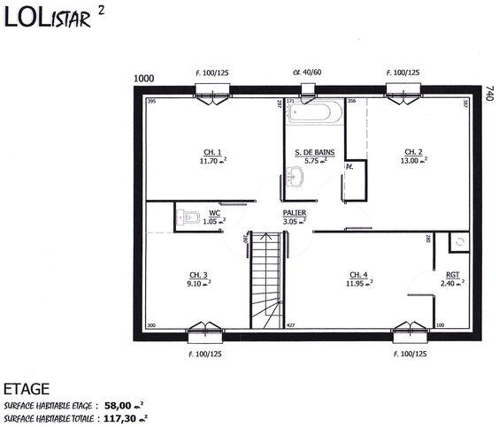 Maison lolistar maison lol 123500 euros 117 m2 for Construire une maison a 70000 euros