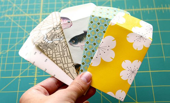 Mini envelopes with white music paper DIY crafts Pinterest - small envelope template