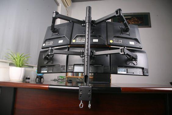 mount it articulating dual arm computer. Black Bedroom Furniture Sets. Home Design Ideas