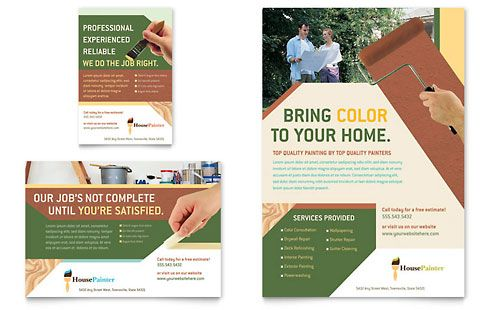 Painter  Painting Contractor Flyer  Ad Template Design