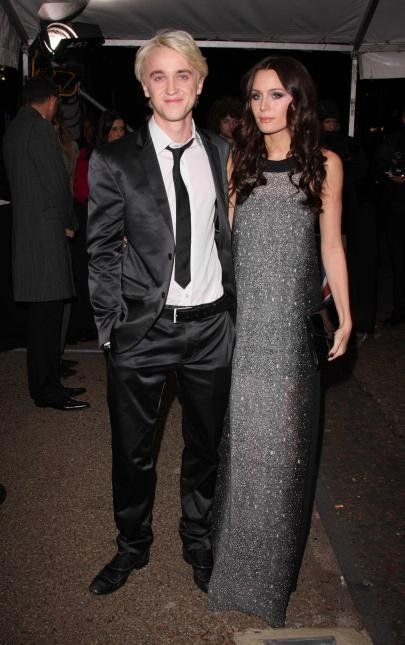 Emma Watson Upstaged By Evil Draco Malfoy S Girlfriend At Harry Potter Premiere In New York Tom Felton Tom Felton Jade Gordon Draco Malfoy