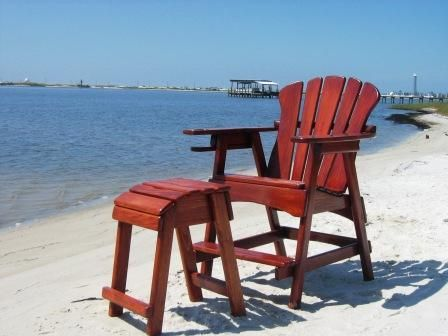 Tall Deck Chair And Matching Tall Ottoman Quot See Over The