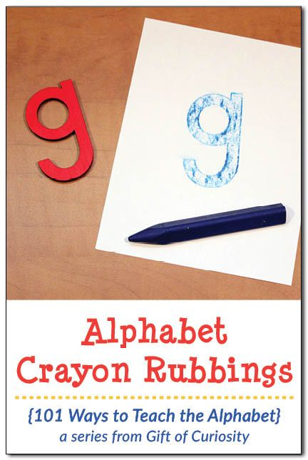 Alphabet crayon rubbings: A fun way to teach the alphabet and help kids learn their letters. Great for fine motor practice too! || Gift of Curiosity