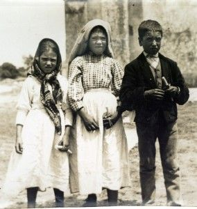 The 3 little shepherds, Jacinta, Lucia and Francisco