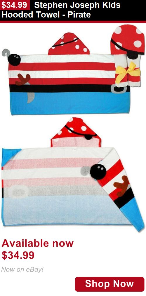 Baby Towels And Washcloths: Stephen Joseph Kids Hooded Towel - Pirate BUY IT NOW ONLY: $34.99