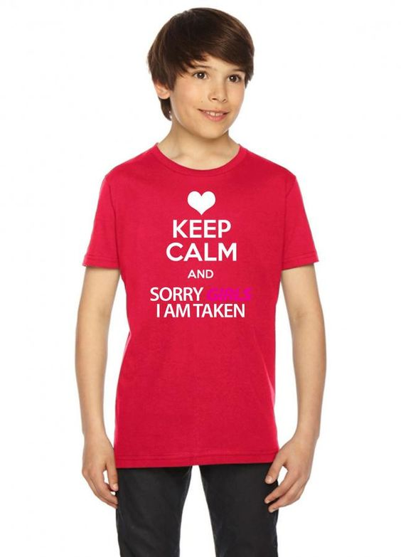 keep calm and sorry girls 17 black Youth Tees