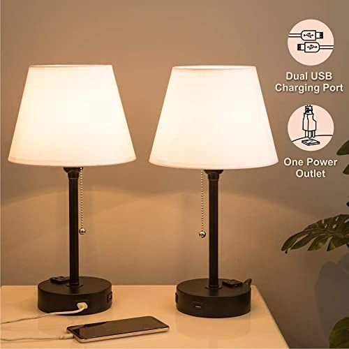 Amazing Offer On Lifeholder Bedside Lamps Table Lamp Useful Dual