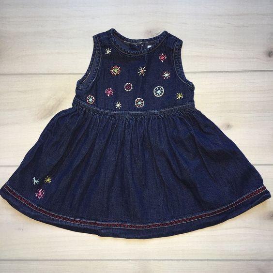 Baby Gap Snowflake Denim Dress