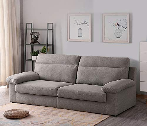 Aonier Mid Century Sofa Loveseat Couch Silk Filled Performance 78 Inch Sofa Ecru 3 Seat Sofa Modern Couches Living Room Couch And Loveseat Couches Living Room