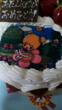 「samurai_qualityさん@samurai_quality: 誕生日ケーキ。 今年は写真にしてもらったよ。こえだちゃんとよつばくん。  」(ついっぷるフォト)