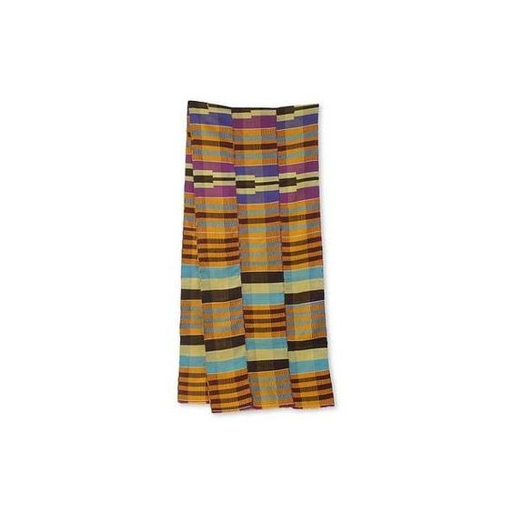 NOVICA Handmade Kente Scarf from Ghana Artisan (12 Inch Width) ($135) ❤ liked on Polyvore featuring accessories, scarves, clothing & accessories, colorful scarves, novica, african scarves, multi colored scarves and colorful shawl