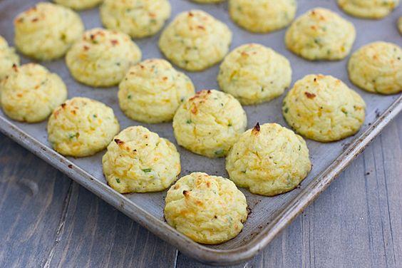 Trimmed-Down Cheddar & Chive Duchess Potatoes (made with cauliflower!) @Kiersten Alyssa