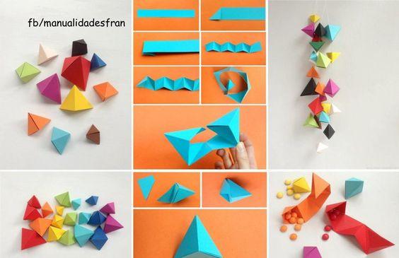 Cajita para dulces origami