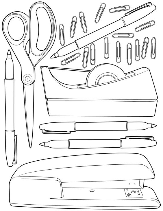 printable school supplies coloring pages free printable