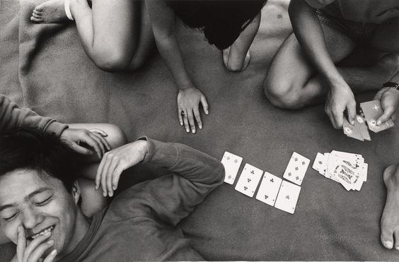 Shomei Tomatsu, Card Game, Zushi, Kanagawa, 1964, printed 1980; gelatin silver print; 8 1/4 x 12 9/16 in.