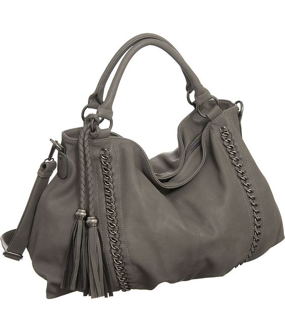 "Purse Boutique: Grey Oversized Melie Bianco ""Miley"" Hobo Handbags, Purses"