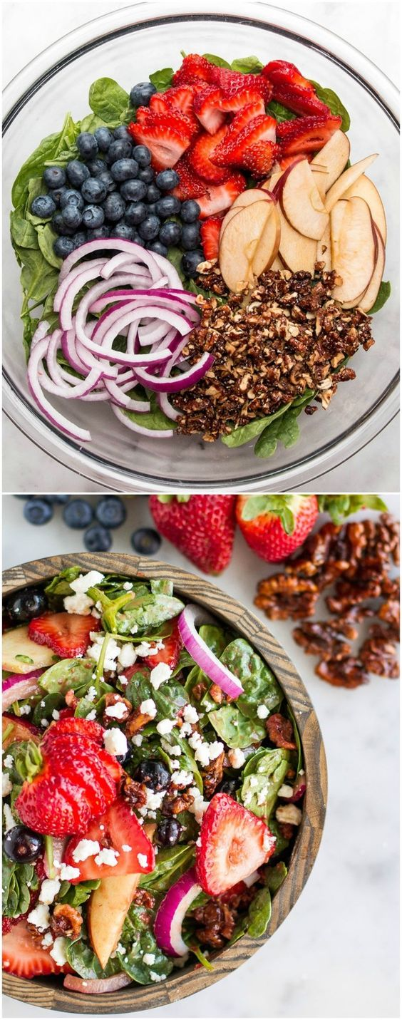 Mixed Berry Salad With Strawberry Balsamic Vinaigrette Dressing