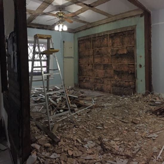 This Home Is Proof That You Can Do A Gut Renovation For Under 25 000 Cheap Tiles Custom Barn Doors Renovations