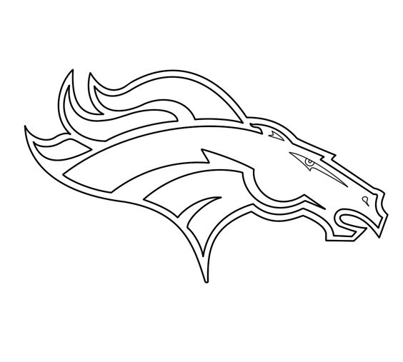 broncos logo coloring pages - photo#16