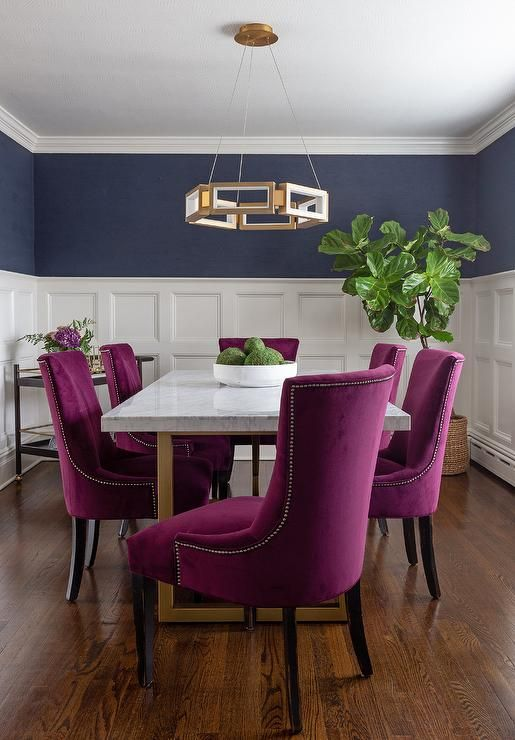 Pin On Dining Room, Fuchsia Dining Room Chairs