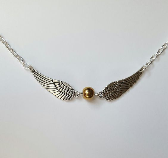 Golden Snitch Harry Potter Necklace by MagicallyMade4You on Etsy