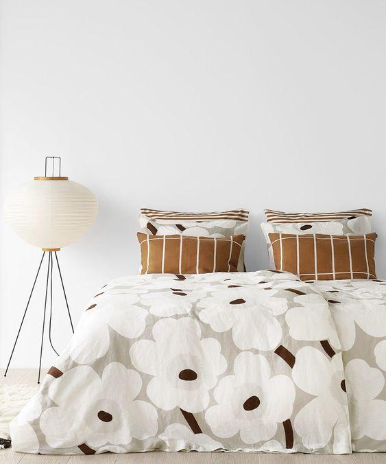 北欧インテリア マリメッコ 寝室 コーディネート例